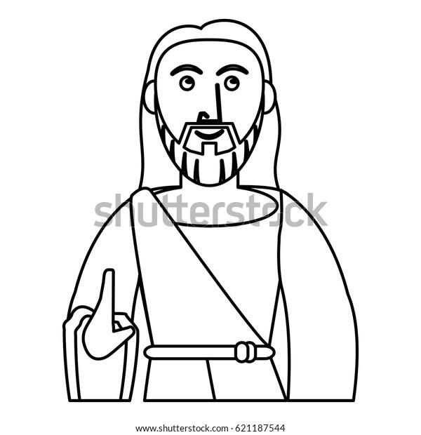 Jesus Christ Prayer Sacred Outline Stock Vector (Royalty Free) 621187544