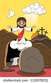 Jesus Christ Resurrection Cartoon