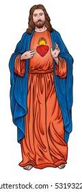 jesus christ with sacred heart