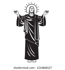 Jesus Christ, the Son of God , Messiah symbol of Christianity, Vector