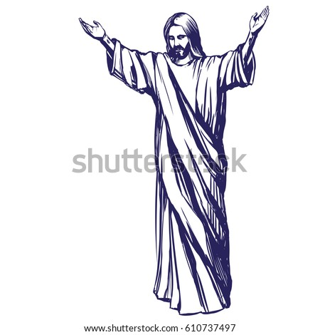 Jesus Christ Son God Symbol Christianity Stock Vector Royalty Free