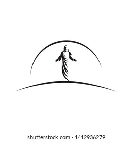 Jesus Christ, son of God, vector illustration