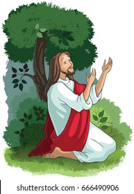 Jesus Christ story. The agony in the garden. Also available coloring book version.