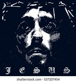 Jesus Christ. Vector illustration