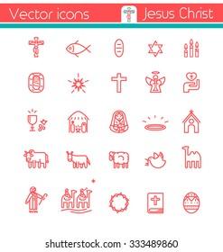 Jesus Christ,Vector icons