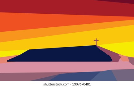 Jesus Golgotha background