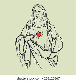 Jesus with graphic insertions