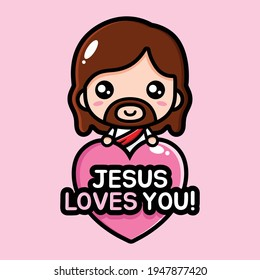 jesus love you vector design