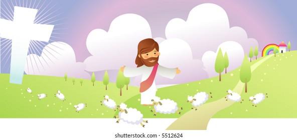 jesus loves his sheep