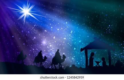Christmas Manger Images Stock Photos Vectors Shutterstock