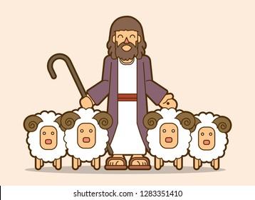 Jesus is my shepherd graphic vector