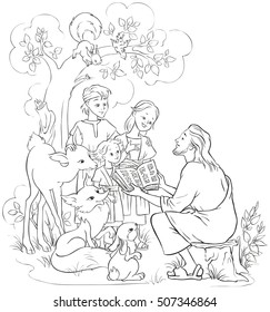 Jesus Coloring Page Images, Stock Photos & Vectors ...