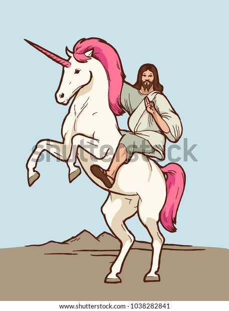 jesus-riding-unicorn-christian-god-600w-