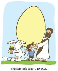 Jesus vs Easter bunny
