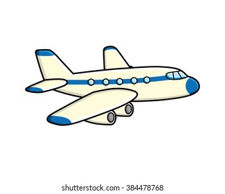 Cartoon Plane Hd Stock Images Shutterstock