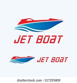 jet boat logo vector