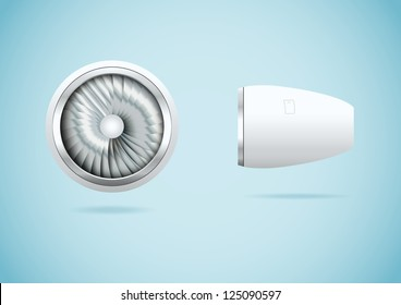 Jet engine. Vector illustration