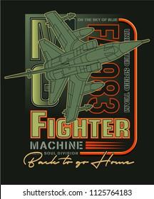 jet fighter team,plane vector illustration