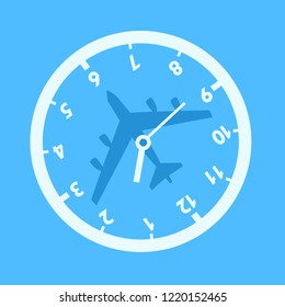 Jet lag - confusion adn time desorientation during travelling by plane and airplane. Traveler's Biorhythm disorder and problem in plane. Vector illustration