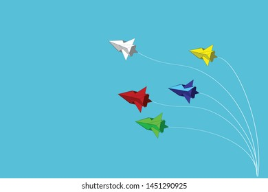 Jet Plane - Illustration of jets of different colors in the background plane.