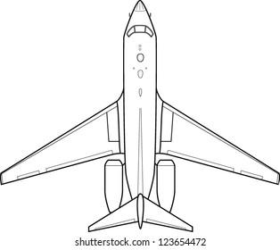 jet plane line art