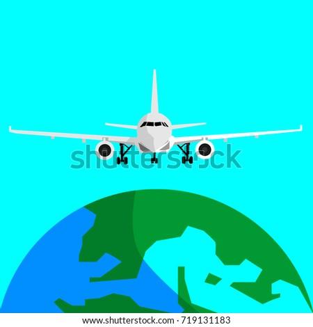 jet plane logo vector template design stock vector royalty free