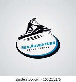 Jet Ski Logo Designs Template