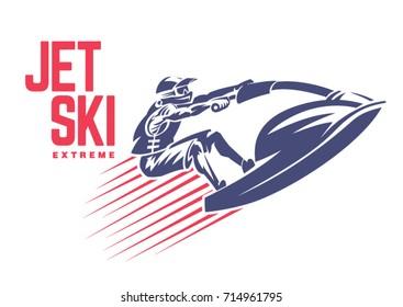 Jet ski. Sport emblem