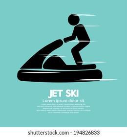 Jet Ski Sport Sign Vector Illustration