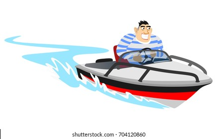 Jet ski water extreme sports, isolated design element for summer vacation activity concept, cartoon vector illustration, active lifestyle adventure