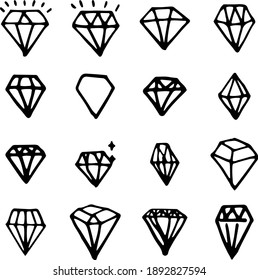 Jewel and Gem Icons and Symbols.