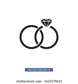 jewel ring icon vector illustration template