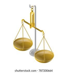jeweler scales vector