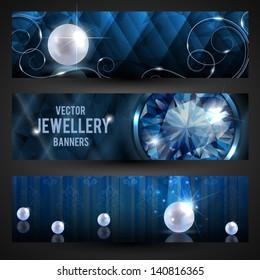 Jewellery banners set - eps10