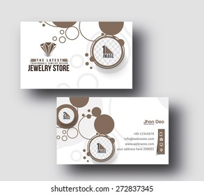 Visiting card design for jewellery images stock photos vectors jewellery shop business card set template reheart Gallery