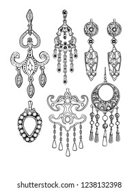 Jewelry bijouterie black and white Eastern