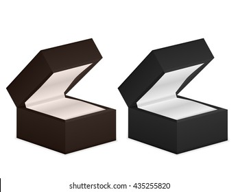 Jewelry boxes on a white background.