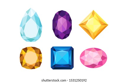 Jewelry Isolated Volume Collection Of Vector Icons