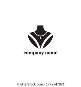 jewelry on the neck illustration logo design vector template
