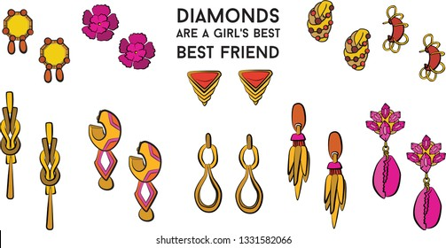 jewelry set Fashion vector illustration vector  object isolated ring earrings necklace bracelet