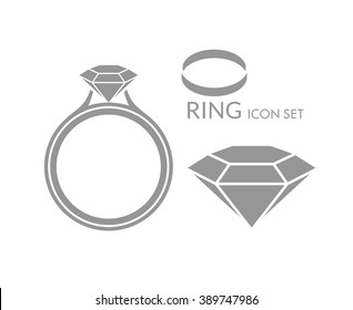 Jewelry. Wedding ring. Diamond