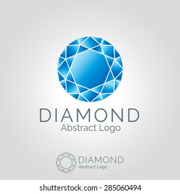 Jewerly diamond logo template. Corporate branding identity