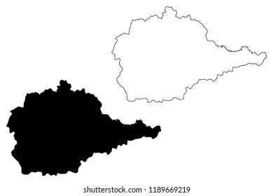 Jewish Autonomous Oblast (Russia, Subjects of the Russian Federation, Autonomous oblast ) map vector illustration, scribble sketch Jewish Autonomous Oblast (JAO) map