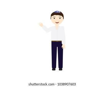 jewish boy vector illustration celebrating 260nw