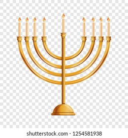 Jewish menorah icon. Cartoon of jewish menorah vector icon for web design