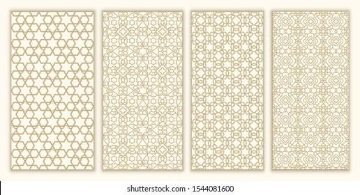 Jewish ornament and david star set seamless pattern