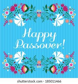 Jewish passover holiday greeting card design. Vector illustration.