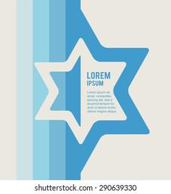 Jewish sign  magen david   star.  vector illustration