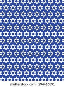 Jewish Star of David Wallpaper - Vector