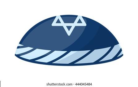 Jewish yarmulke hat vector illustration